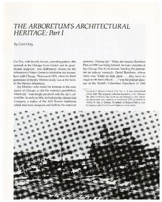 The Arboretum's Architectural Heritage: Part I
