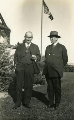Joy Morton September 27, 1930 photo album: Joy Morton with Mark Morton
