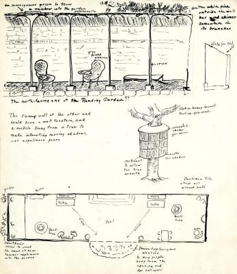 Plan for The Morton Arboretum, Sterling Morton Library Reading Garden-north end