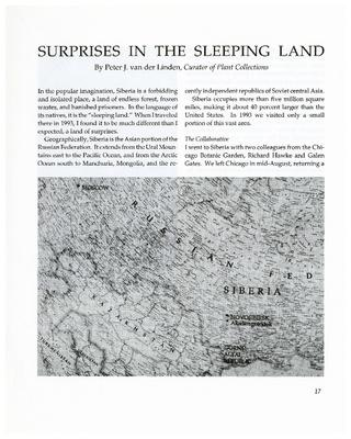 Surprises in the Sleeping Land