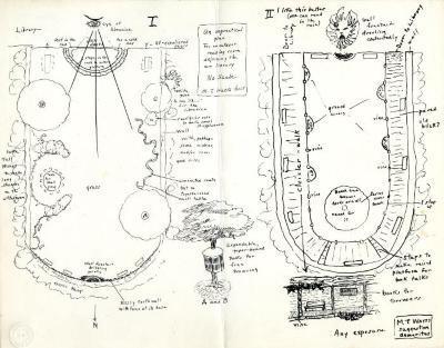 Two plans for The Morton Arboretum, Sterling Morton Library Reading Garden