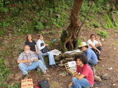 Researchers on a collecting trip in Durango, Mexico