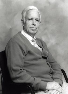 Floyd Swink, seated portrait