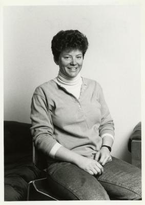 Ellen Sieloff, seated portrait