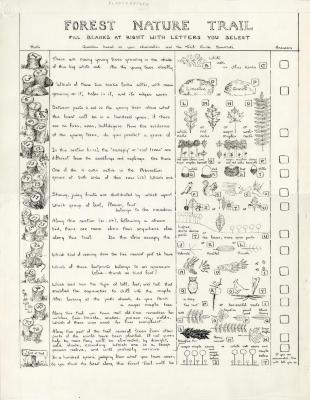 Forest Nature Trail Guide: Forest Nature Trail worksheet (original)