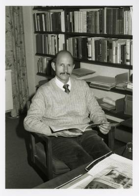 Michael Stieber seated at desk