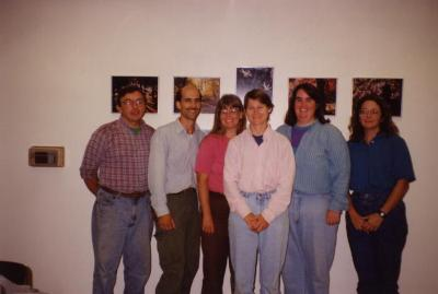 Collections crew, indoor group photo