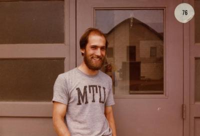 George Shabel outside South Farm