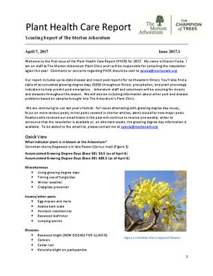 Plant Health Care Report, Issue 2017.1