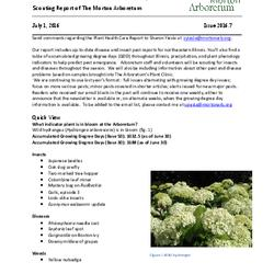Plant Health Care Report, Issue 2016.7