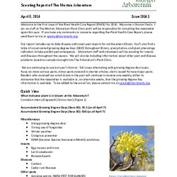 Plant Health Care Report, Issue 2016.1