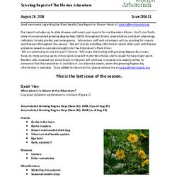 Plant Health Care Report, Issue 2016.11
