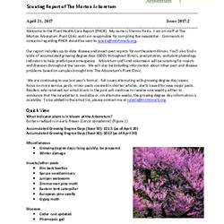 Plant Health Care Report, Issue 2017.2