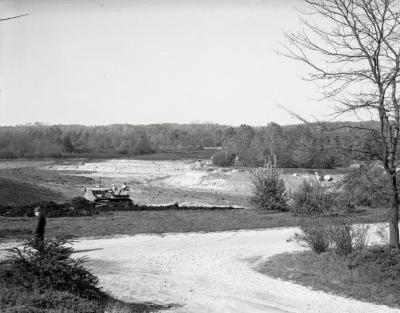 Meadow Lake excavation, looking west from Spring Road parking lot