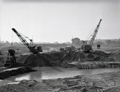 Arbor Lake excavation looking southwest