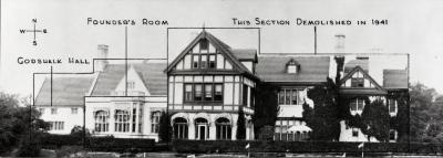 Morton Residence at Thornhill, sections of house identified as they are today