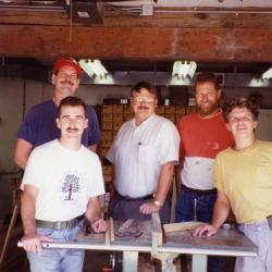 Carpentry Department, in the carpentry shop with table saw
