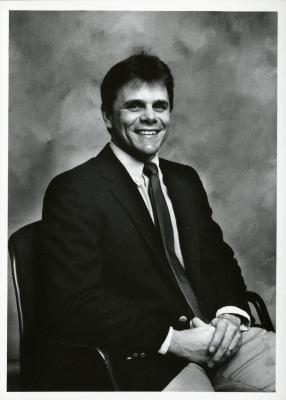 Kris Bachtell, seated portrait