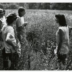 Pat Armstrong teaching a class in Schulenberg Prairie