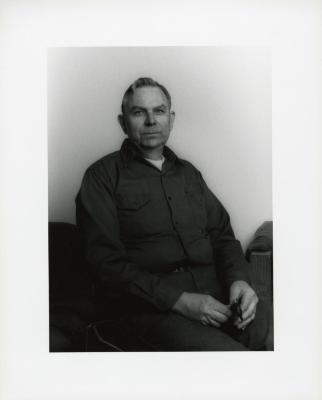 Fred Berg, seated portrait