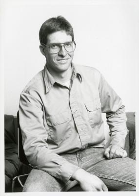 John Beckett, seated portrait