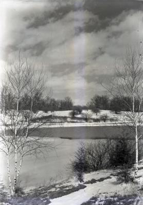 Lake Marmo landscape in winter
