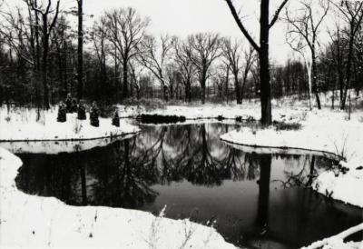 Pond west of Sterling Pond Bridge over inlet in winter