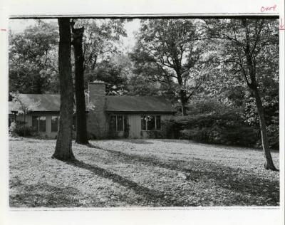 Clarence Godshalk residence, exterior, view from backyard
