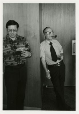 Donald Heldt (left) and Marion Hall at a party
