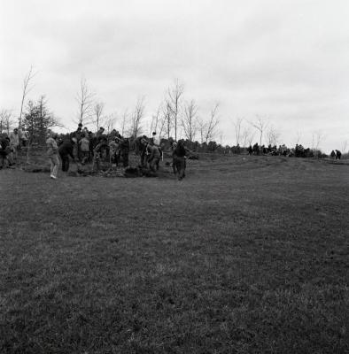 Arbor Day Centennial, Centennial Grove tree planting, groups of people planting trees