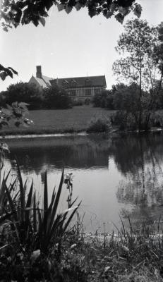 View of Morton residence from across one of two small ponds west of Thornhill