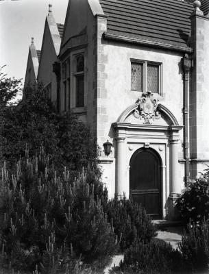 Morton residence library entrance door