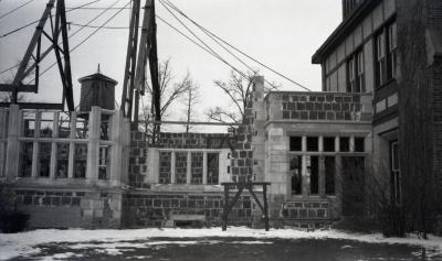 Morton residence at Thornhill, library wing construction
