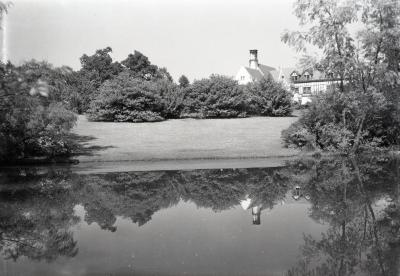 Morton residence and upper pond in summer