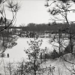 Looking south over Sterling Pond in winter